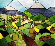 Mountainside Stained Glass, Susann Williamson, Terrace